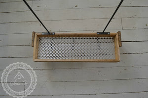 Reclaimed Wood Shower Caddy Single Shelf with Steel Bar and Hooks and Optional Soap Holder