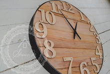 Charger l'image dans la galerie, Wood Wall Clock , 18 inches Round , Farmhouse Style , Recycled Wood ,  Industrial Style