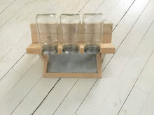 Load image into Gallery viewer, Wood Sprout Growing Stand with Drip Tray , 3 Jar Holder