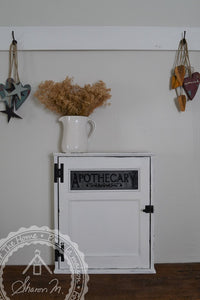 Farmhouse  Style Wall Mounted Washroom Cabinet Glass Panel Door