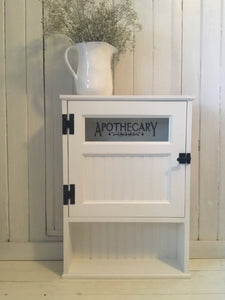 Farmhouse  Style Wall Mounted Washroom Cabinet 20 x 30 Glass Panel Door Open Shelf