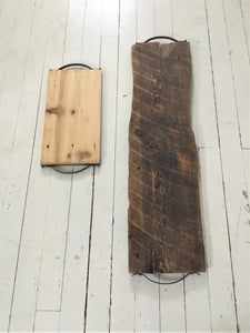 Rustic Entertaining Wood Tray , Charcuterie Board , Reclaimed Barn Wood Tray