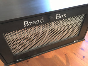 Large Wood Bread Box , Adjustable Shelf , Farmhouse Style