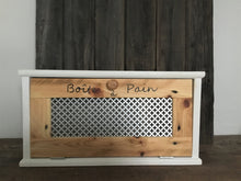Load image into Gallery viewer, Rustic Bread Box  Recycled Wood , 20 x 7  x 10