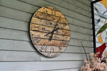 Load image into Gallery viewer, 30 Inch Over Sized Wall Clock -Recycled Wood-Industrial Style