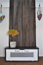 Load image into Gallery viewer, Modern Farmhouse Style Wood Bread Box 28 x 9 x 7