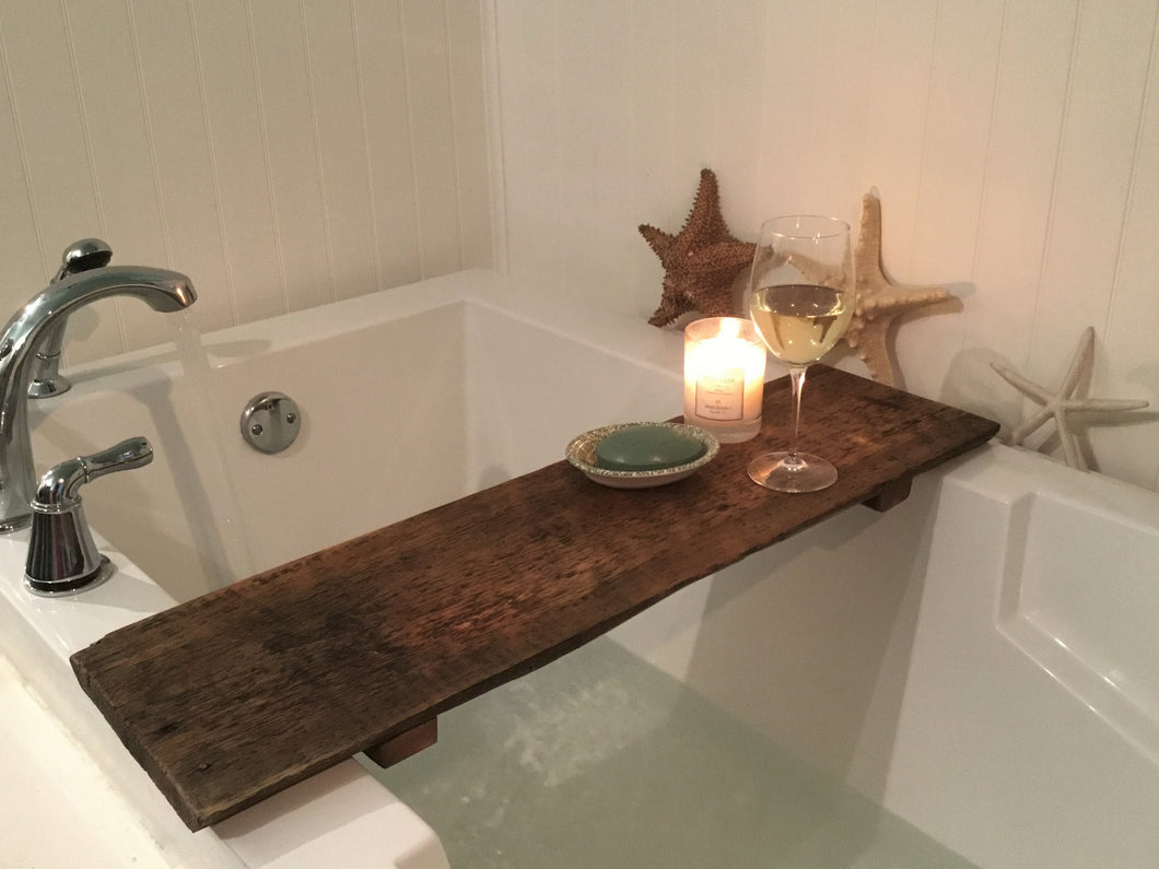 Reclaimed Barn Wood Bathtub Tray