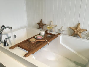 Reclaimed Barn Wood Bath Tray