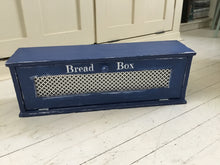 Load image into Gallery viewer, Farmhouse Style Wood Bread Box 28 x 9 x 7 with Distressed Finish