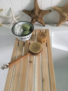 Cedar Slats Bath Tray , Minimalist Bath Tub Tray