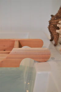 Cedar Bath Tray , Tablette Holder