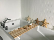 Load image into Gallery viewer, Cedar Slats Bath Tray , Minimalist Bath Tub Tray