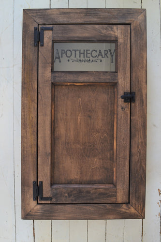 Built In Washroom Cabinet , Farmhouse Style Medicine cabinet , Stained Finish