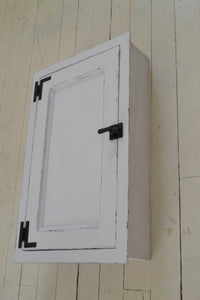 Built In Washroom Cabinet , Farmhouse Style Medicine cabinet , Full Door Panel