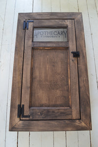 Vintage Style Replacement Door and Frame for Existing Built In Washroom Cabinet , Paneled Door with Frame