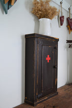 "Load image into Gallery viewer, Antique Reproduction Washroom Cupboard ,  18"" x 28"" ,  Distressed Finish ,  Wood Medicine Cabinet"