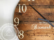 Load image into Gallery viewer, Farmhouse Over Sized Wall Clock ,  36 Inch Round , Reclaimed Barn wood , Farmhouse Style