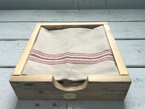 Rustic Reclaimed Wood Napkin Holder , Natural Finish