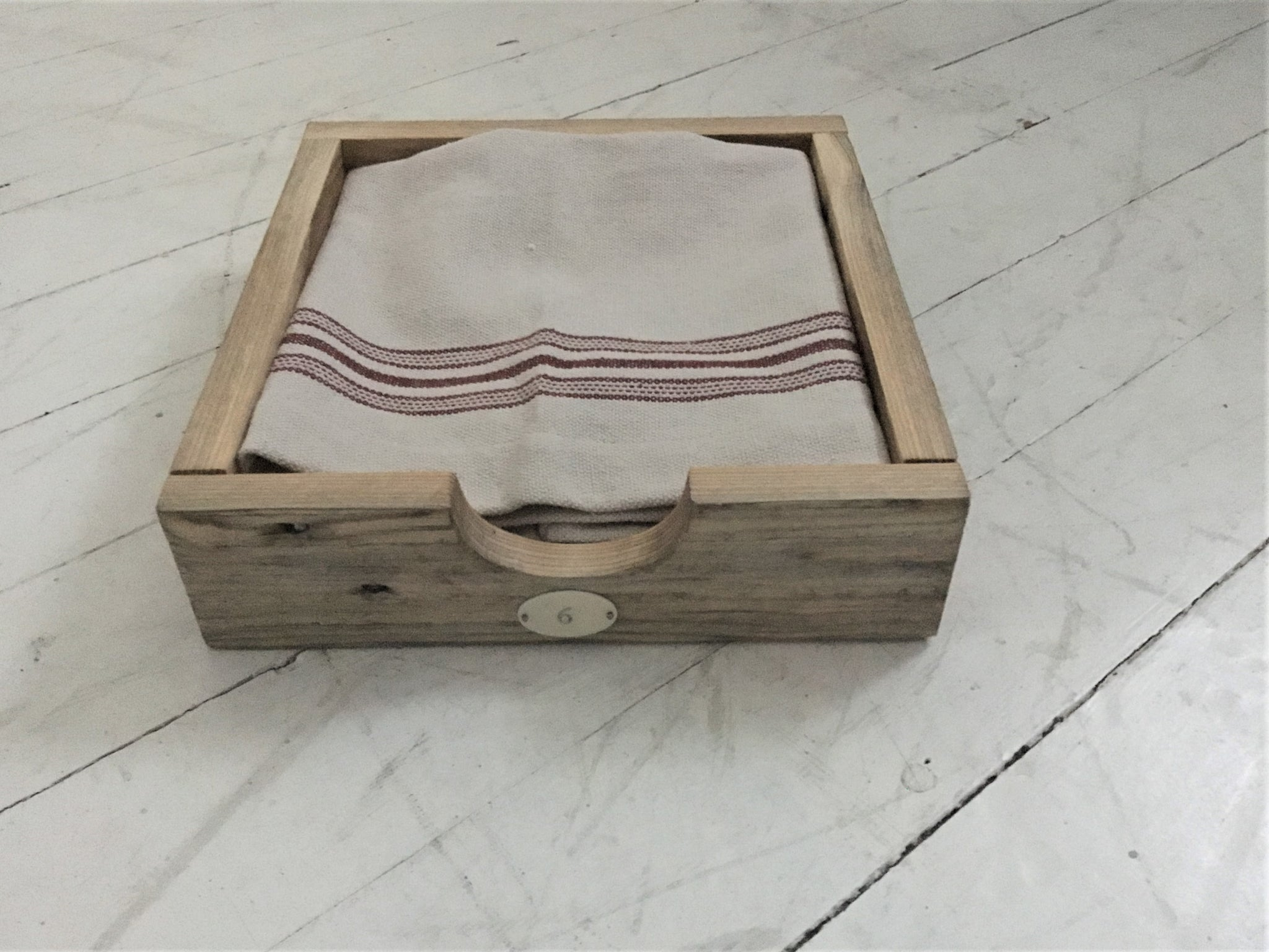 Rustic Reclaimed Wood Napkin Holder Natural Finish Sharon M For The Home