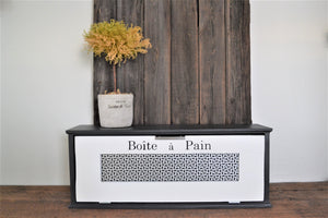 Modern Farmhouse Style Wood Bread Box 28 x 9 x 7