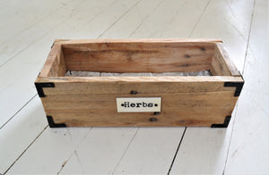 Reclaimed Wood Herb Planter , 3 Sizes