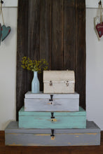 Load image into Gallery viewer, Antique Style Storage Box , 3 Sizes , Distressed Finish