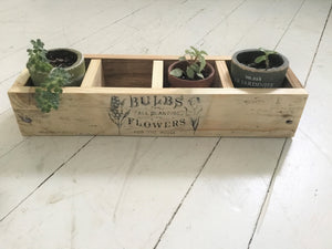 Wood Plant Display Box , Reclaimed Wood
