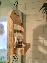 Load image into Gallery viewer, Shower Caddy for Shower Head , Reclaimed Wood Shower Rack