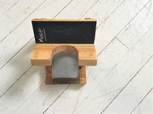 Load image into Gallery viewer, Wood Sprout Growing Stand with Drip Tray , 1 Jar Holder , Chalk Board Backing