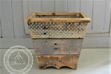 Load image into Gallery viewer, Wood Waste Paper Bin , Reclaimed Wood , Rustic Style , With or Without Lid