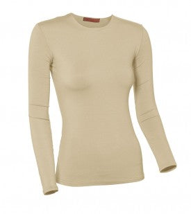Ladies Plus Size Nylon/Lycra Long Sleeve