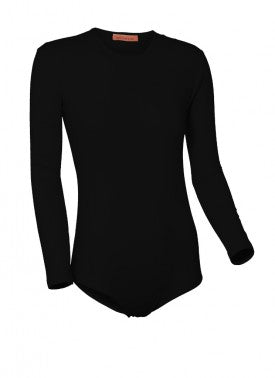 Ladies Cotton/Spandex Long Sleeve Bodysuit