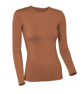 Ladies Plus Size Modal Long Sleeve
