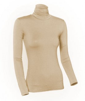 Ladies Nylon/Lycra Long Sleeve Turtleneck