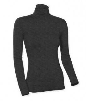 Ladies Heather Long Sleeve Turtleneck Shell
