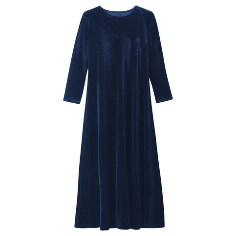 KIDS VELVET MAXI DRESS LONG SLEEVE