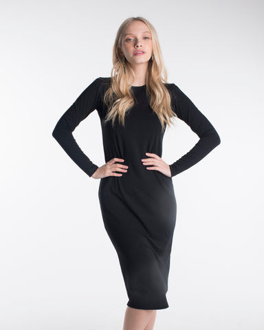 LADIES SILHOUETTE DRESS LONG SLEEVE