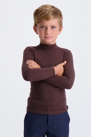 Kids Flat Knit Turtleneck Sweater