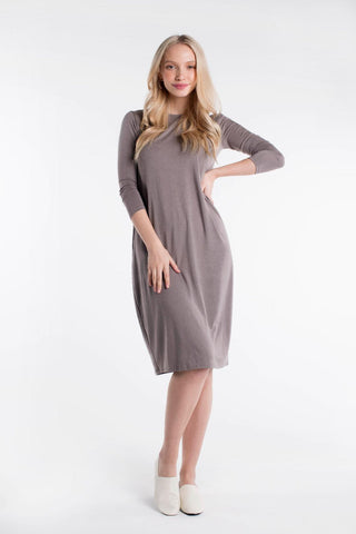 LADIES LUNA DRESS 3/4 SLEEVE