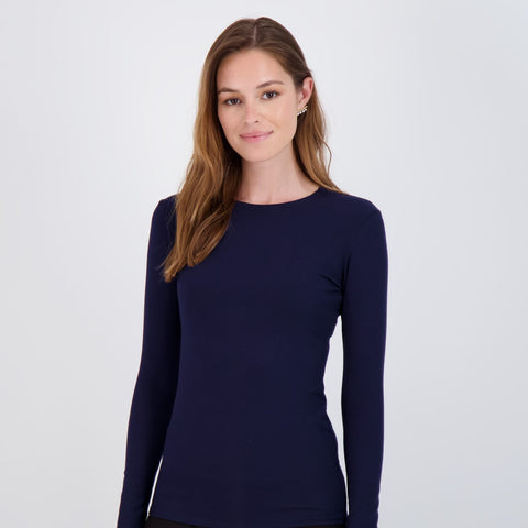 Ladies Ribbed Long Sleeve