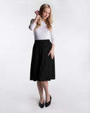 LADIES A-LINE RIBBED SKIRT