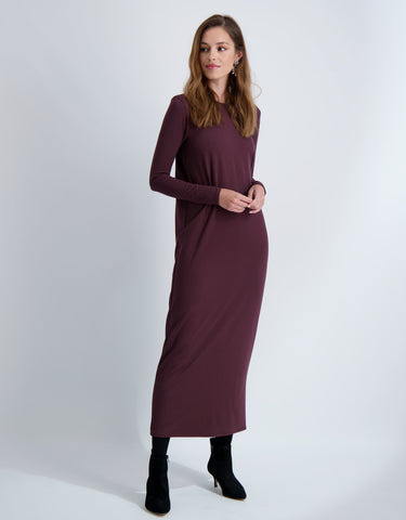 LADIES LUNA DRESS LONG SLEEVE MAXI