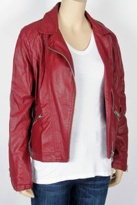 4fea7bf412f5 Forever 21 Maroon Moto Jacket-Size Small