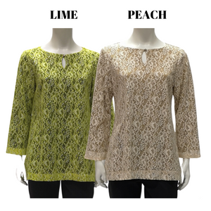Poly Laces Long Sleeve Blouse
