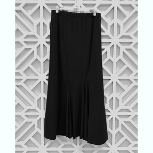 Matte Jersey Panels Long Skirt