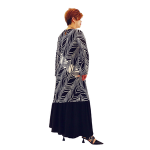 Printed Jersey Asymetric Midi Dress