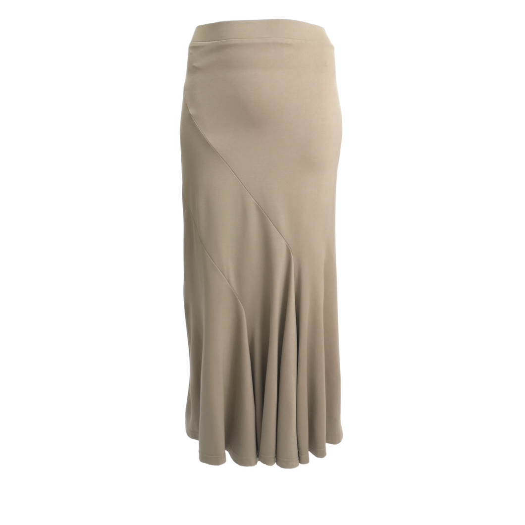 Jersey Side Panel Long Skirt
