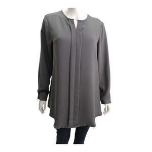 Poly Suiting Long Sleeve Blouse