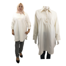 Poly PU Long Sleeve Long Shirt