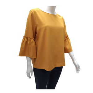 Poly Ruffle Sleeve Blouse